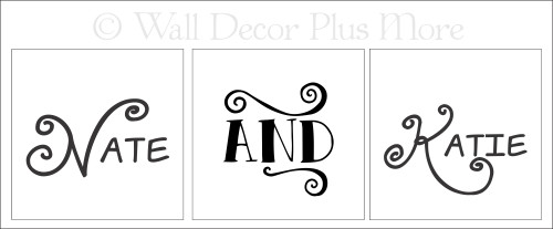 Personalized vinyl stickers lettering design for LED flameless candles