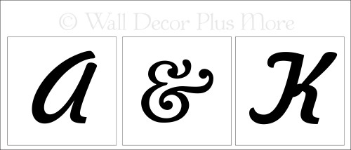 Monogram vinyl stickers lettering design for LED flameless candles