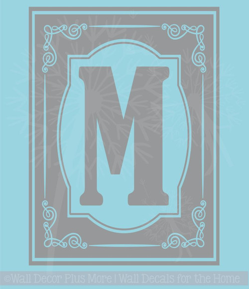 Monogram Decals Vinyl Sticker Custom Stencil Letter for Etching on 9x13 Glass Dish