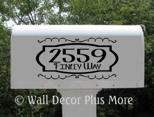 Mailbox Vinyl Sticker Decals For Custom Personalized