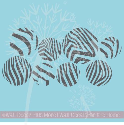 Fun Girls Teen Room Zebra Print Stickers