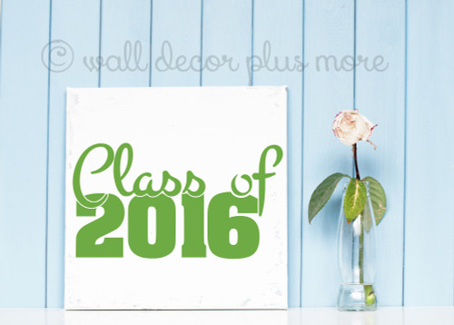 Class of 2016 Wall Art Vinyl Stickers for Graduation Party Decor