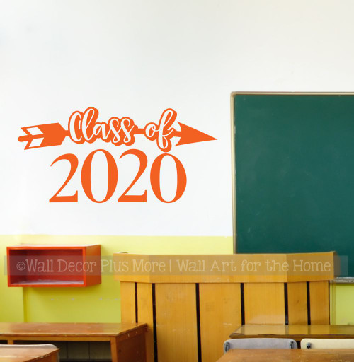 Class of 2020 Arrow Wall Art Graduation Decals Sticker for Senior High School Graduates