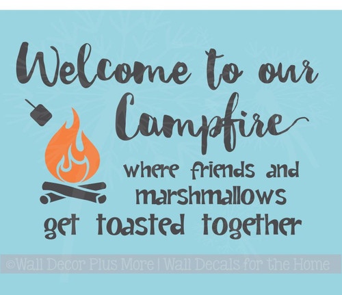 Welcome to our Campfire Camper Wall Art Decals Vinyl Stickers Lettering