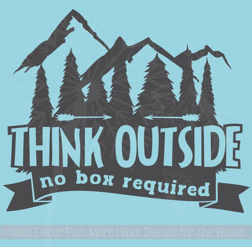 Think Outside No Box Required Summer Quotes for Camper or RV Wall Decor Wall Letters