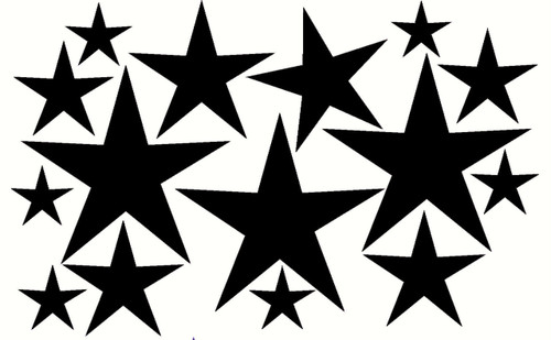 Variety Star Wall Stickers Vinyl Decals Shapes