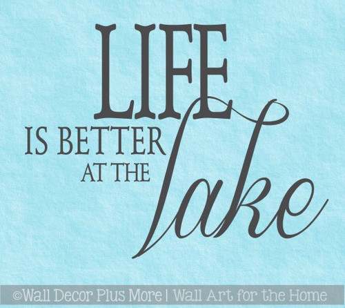 Life is Better at the Lake Summer Camper Wall Décor Vinyl Decal Stickers