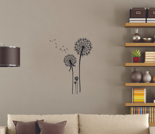 Dandelion Flower Wall Stickers Decals Popular Wall Art