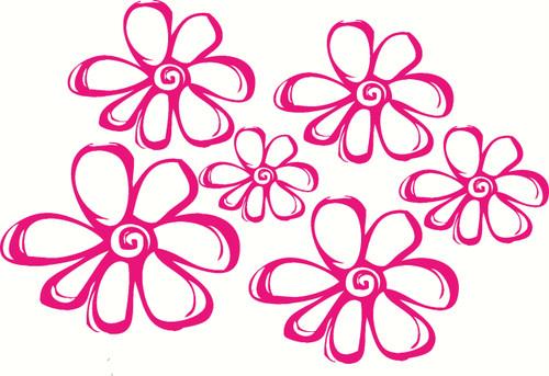Flower Wall Decal , Girls Room Decor Art