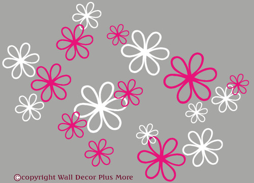 Daisy Floral Wall Decal package