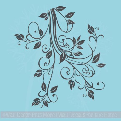 Floral1 Flower Leaf & Vine Wall Art Decals Stickers 15x16