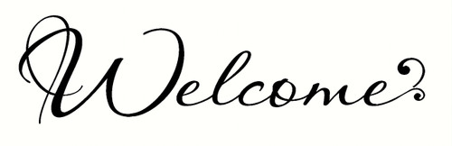 Script Welcome Sticker Lettering Vinyl Wall Decal Stickers Popular for Front Door