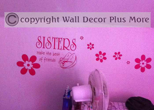 Sisters make the Best of Friends Wall Art Vinyl Decal Stickers with Shoes