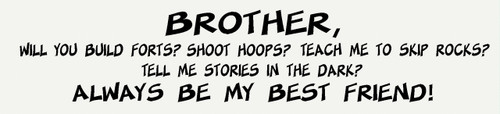 Brother Always be My Best Friend Boys Vinyl Wall Decal Stickers Saying