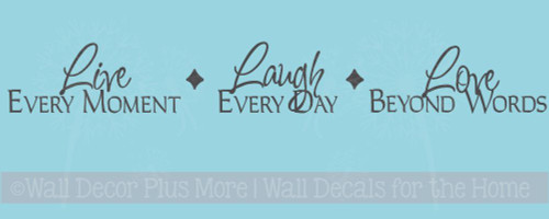 Live, Laugh, Love Inspirational Vinyl Wall Sticker Decals Saying