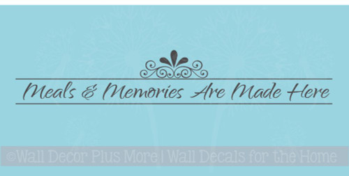Meals and Memories Kitchen Quotes Wall Sticker Decals Saying