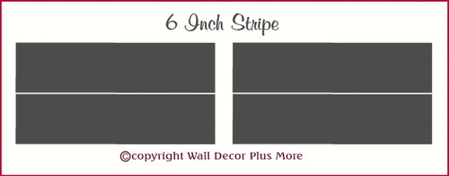 Wall Stripes Vinyl Stickers to make a Room Border 6 Inch Wide