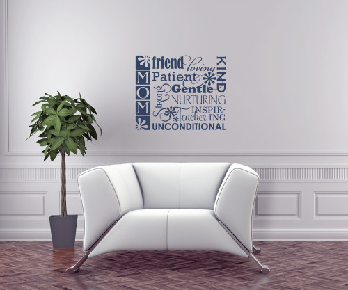 Mom Kind Patient Gentle Wall Decal Stickers Wall Letters