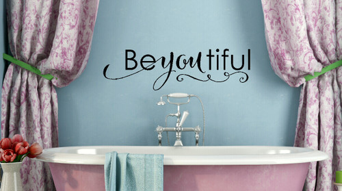 Be-you-tiful Lettering Girls Wall Sticker Decals Wall Words for Room Decor