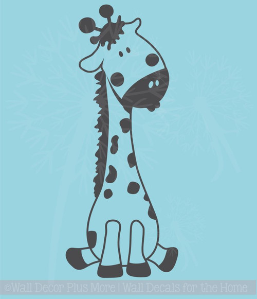 Baby Giraffe Vinyl Wall Art Sticker Decals for Nursery or Child's Room Decor