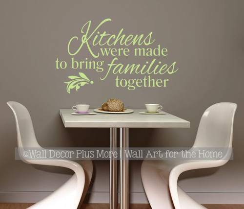 Wall Stickers Quotes Kitchens are made for bringing Families Art Decor Decal