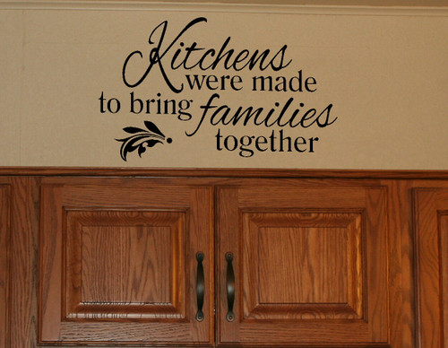 Kitchen Family Wall Decal Dining Room Décor-Black