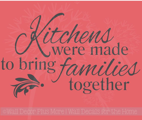 Kitchen Family Wall Decal Dining Room Décor