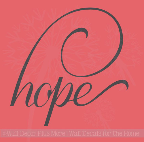 Hope with Swoop Breast Cancer Awareness Wall Sticker Vinyl Decals Letters