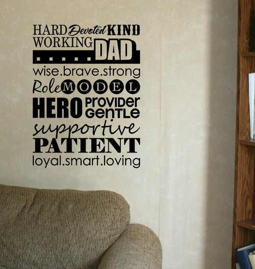Dad Collage Subway Art Wall Decal Stickers Wall Letters Quotes & Phrases