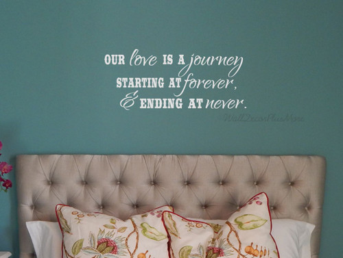Our Love Is A Journey Wall Decal Vinyl Sticker Art Quotes Wall Letters for Bedroom Décor