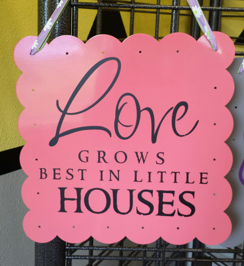 Love Grows Best in Little Houses - Wall Decal Sticker Black