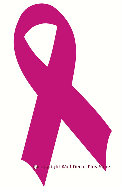 Breast Cancer Ribbon Wall Decal Hot Pink