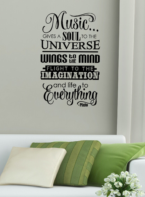 Music Gives Life To Everything Wall Decal Stickers for the Home