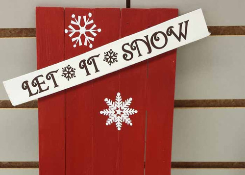 Snowflake Winter Decal Sticker Set with Let It Snow Lettering