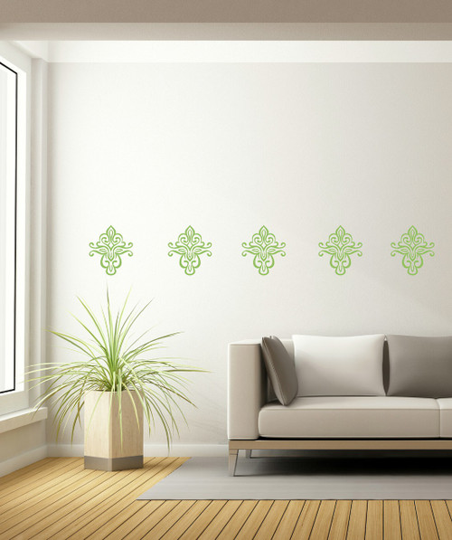 Floral Pattern Medallion Wall Decal for Home Decor-Celadon