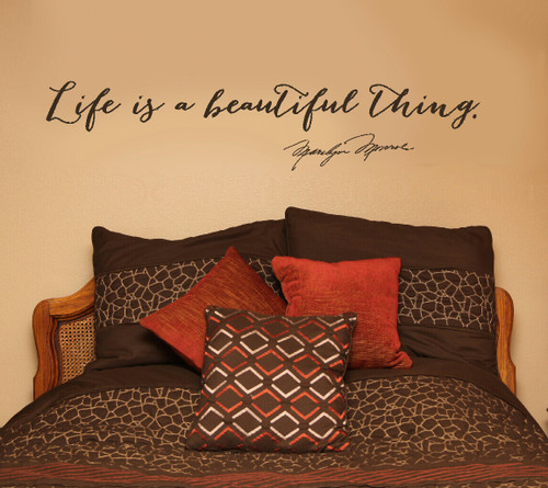 Life Is A Beautiful Thing Marilyn Monroe Wall Decal Quote For Home Decor