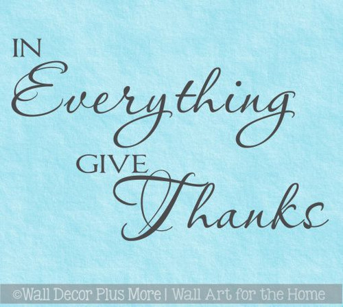 In Everything Give Thanks Kitchen Wall Decal Stickers Quotes