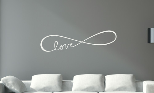 Infinity Love Symbol Wall Decals Stickers Love Quotes White
