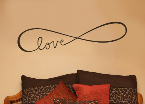 Infinity Love Symbol Wall Decals Stickers Love Quotes Chocolate