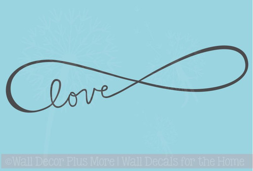 Infinity Love Wall Decals Art Vinyl Sticker For Master Bedroom Or Impressive Infinity Love Quotes