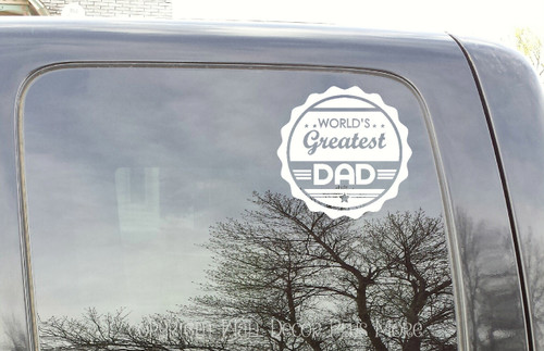 Worlds Greatest Dad Glossy Car Truck Window Decal Sticker