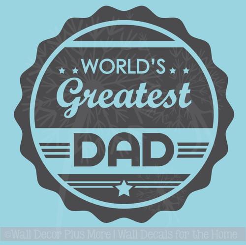 Worlds Greatest Dad Glossy Car Truck Window Decal Sticker