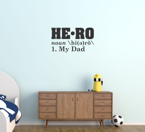 Hero Definition My Dad Wall Decal Sticker