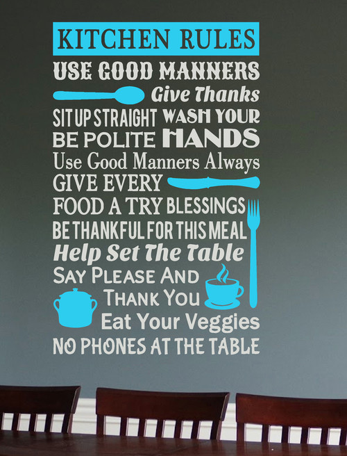 Bathroom Rules Quote Wall Stickers Mom Tips For Kids Wall Decal Home Decor MA