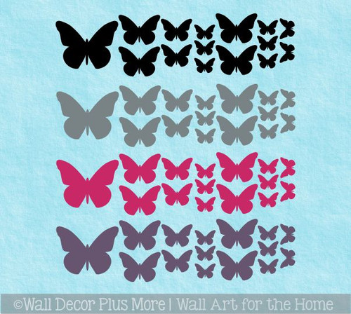 Butterfly Wall Art Decals for Girls Room Vinyl Stickers to Decorate