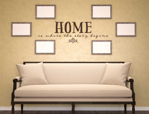 Home is Where the Story Begins Wall Decal Quote-Chocolate Brown