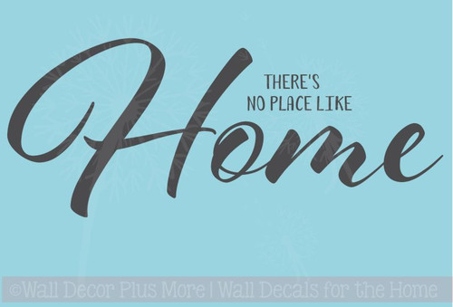 Wall Decals Words, No Place Like Home, Wall Decor Vinyl Stickers