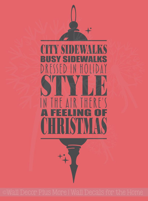 Holiday Wall Letters Feeling of Christmas Holiday Wall Stickers Decal Quote