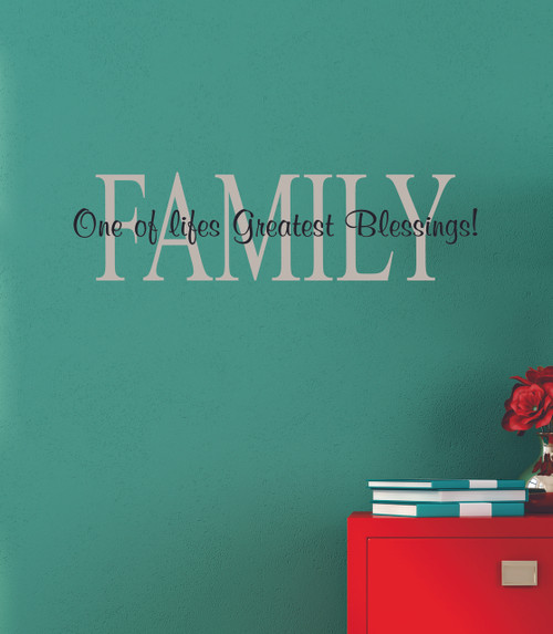 Family One of Life's Greatest Blessings Vinyl Decal Stickers