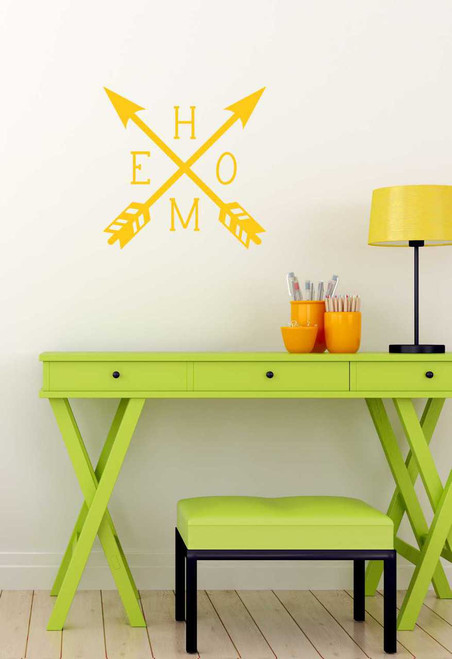 Home Quotes Lettering with Arrow Design Vinyl Wall Decals